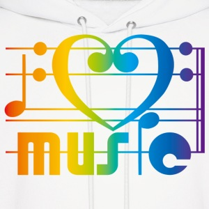 I LOVE MUSIC - Men's Hoodie