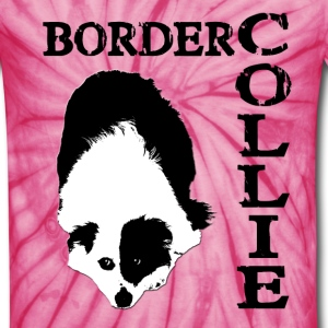 Border Collie Waiting - Unisex Tie Dye T-Shirt