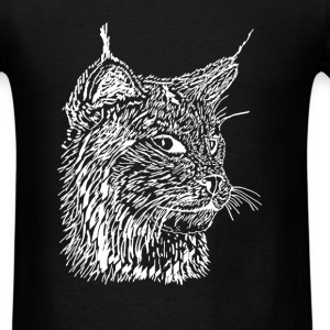 Lynx - Woodcut - Men's T-Shirt