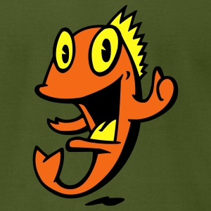 Olive marine_smiling_fish T-Shirts - Men's T-Shirt by American Apparel