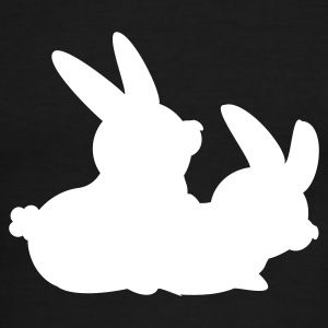 Red/white two bunnies making love (2c) T-Shirts - Men's Ringer T-Shirt