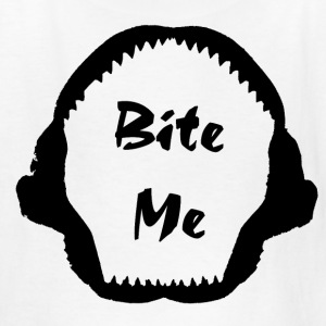 White bite me black Kids' Shirts - Kids' T-Shirt