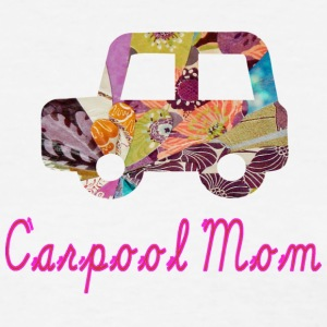 White CARPOOL MOM Women's T-Shirts - Women's T-Shirt
