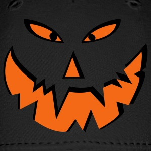 Royal blue Scary halloween pumpkin face Caps - Baseball Cap