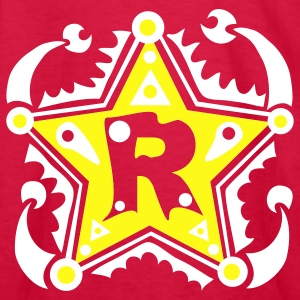 R Type Letter Name Initial - Kids' Long Sleeve T-Shirt