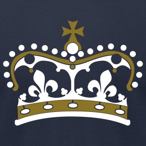 Navy crown 2c T-Shirts - Men's T-Shirt by American Apparel