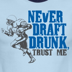 Fantasy Football Draft Drunk - Men's Ringer T-Shirt