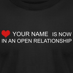 Black open relationship custom by wam T-Shirts - Men's T-Shirt by American Apparel