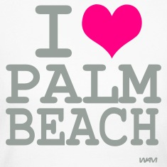 White i love palm beach by wam Long Sleeve Shirts