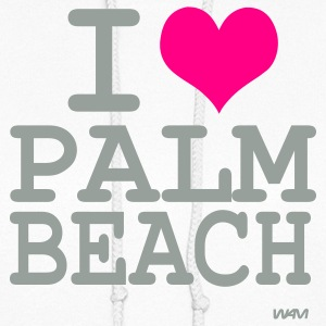 White i love palm beach by wam Hooded Sweatshirts - Women's Hoodie