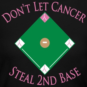 Don't Let Cancer Steal 2nd Base - Women's Long Sleeve Jersey T-Shirt