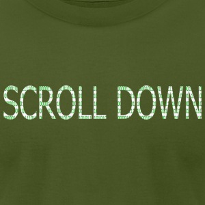 Olive SCROLL DOWN T-Shirts - Men's T-Shirt by American Apparel
