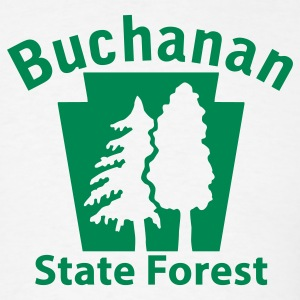 Buchanan State Forest Keystone (w/trees) T-Shirts - Men's T-Shirt