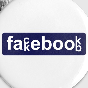 White fackebookb...by wam Buttons - Small Buttons