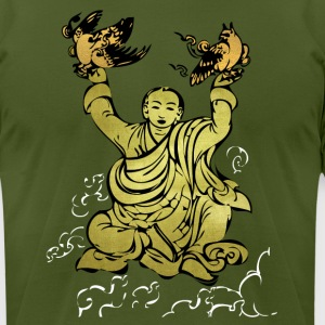 Olive Prayer birds cool Textures T-Shirts - Men's T-Shirt by American Apparel