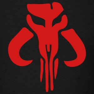 Mandalorian Bounty Hunter Skull 1c - Men's T-Shirt
