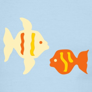 Chocolate/tan two_marine_fishes T-Shirts - Men's Ringer T-Shirt