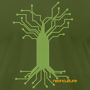 Olive electreecity T-Shirts - Men's T-Shirt by American Apparel