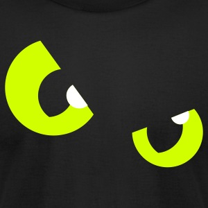 Black cats eyes (2c) T-Shirts - Men's T-Shirt by American Apparel