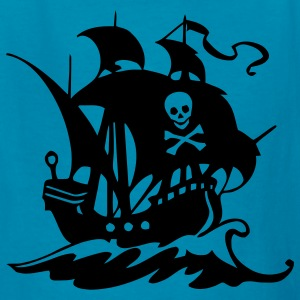 Orange pirate ship Kids' Shirts - Kids' T-Shirt