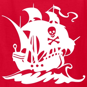 Red pirate ship Kids' Shirts - Kids' T-Shirt