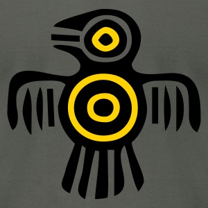 Asphalt indian_culture_bird2 T-Shirts - Men's T-Shirt by American Apparel