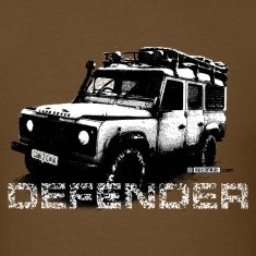 Brown Land Rover Defender illustation - AUTONAUT.com T-Shirts