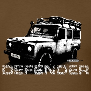Brown Land Rover Defender illustation - AUTONAUT.com T-Shirts - Men's T-Shirt