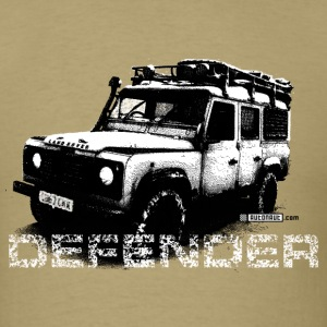 Khaki Land Rover Defender illustation - AUTONAUT.com T-Shirts - Men's T-Shirt
