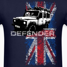 Navy Land Rover Defender - AUTONAUT.com T-Shirts