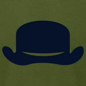 Olive bowler hat (1c) T-Shirts - Men's T-Shirt by American Apparel