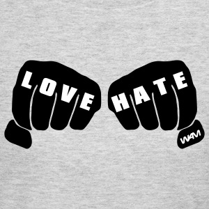 Gray LOVE VS HATE Long Sleeve Shirts - Women's Long Sleeve Jersey T-Shirt