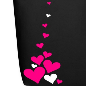 Black Falling Hearts 2Color Bags  - Eco-Friendly Cotton Tote