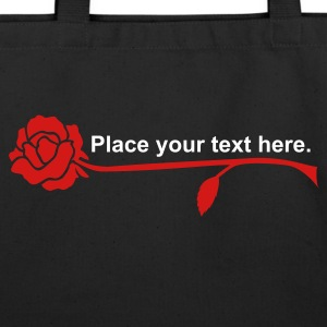 Black rose (1c) Bags  - Eco-Friendly Cotton Tote