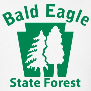 Bald Eagle State Forest Keystone (w/trees) T-Shirts - Men's T-Shirt