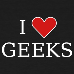 Black I heart geeks (white) Women's T-Shirts - Women's T-Shirt