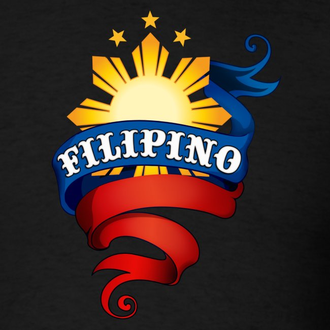"Men's Definitely Filipino Shirt with ""Definitely Filipino"" printed on back"