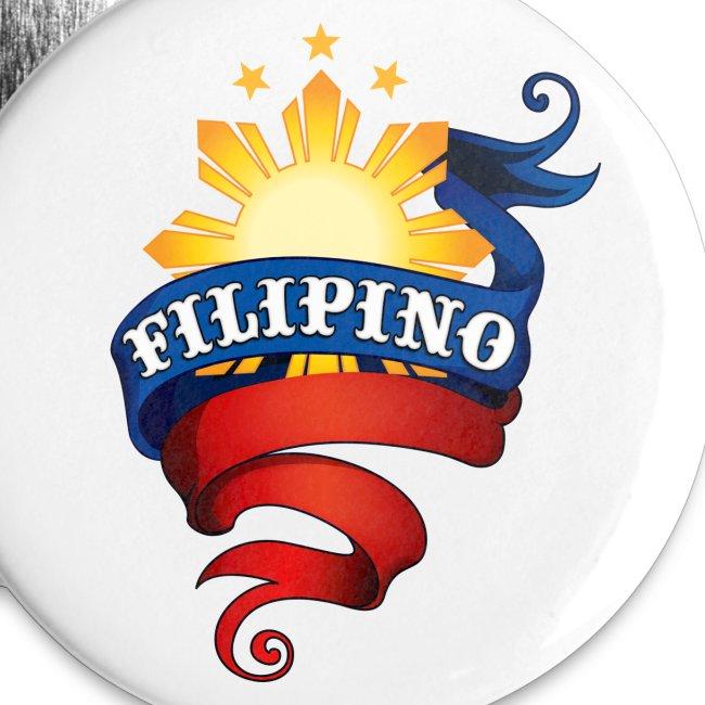 Filipino Promotional Button (WHITE-BA)