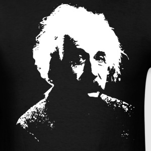 Black Einstein White T-Shirts - Men's T-Shirt
