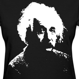 Black Einstein White Women's T-Shirts - Women's T-Shirt