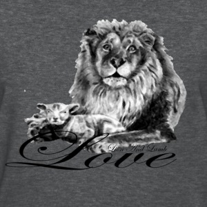 Lion and Lamb Love - Women's T-Shirt