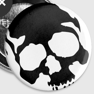 Black Skull - Large Buttons