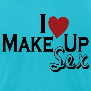 Turquoise i_love_make_up_sex T-Shirts - Men's T-Shirt by American Apparel