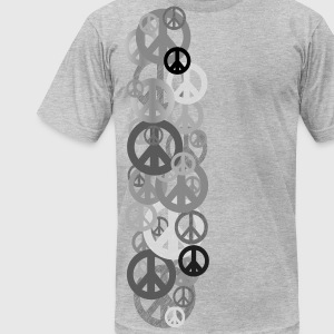 Heather grey PEACE T-Shirts - Men's T-Shirt by American Apparel