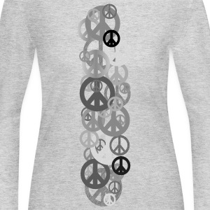 Gray PEACE Long Sleeve Shirts - Women's Long Sleeve Jersey T-Shirt