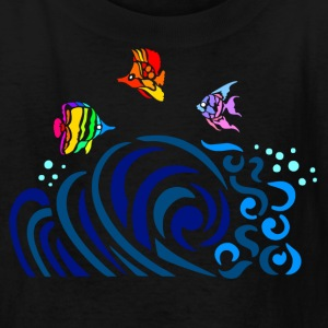 Black Rainbow Fish (dark shirts) Kids' Shirts - Kids' T-Shirt