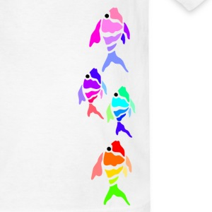 White Colorful Fish (light shirts) Kids' Shirts - Kids' T-Shirt