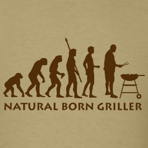 Khaki natural_born_griller T-Shirts - Men's T-Shirt