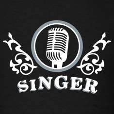 Black singer_2c T-Shirts