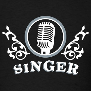 Black singer_2c T-Shirts - Men's T-Shirt